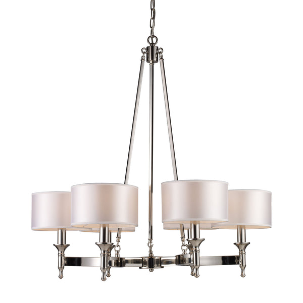 Pembroke 6 Light Chandelier In Polished Nickel
