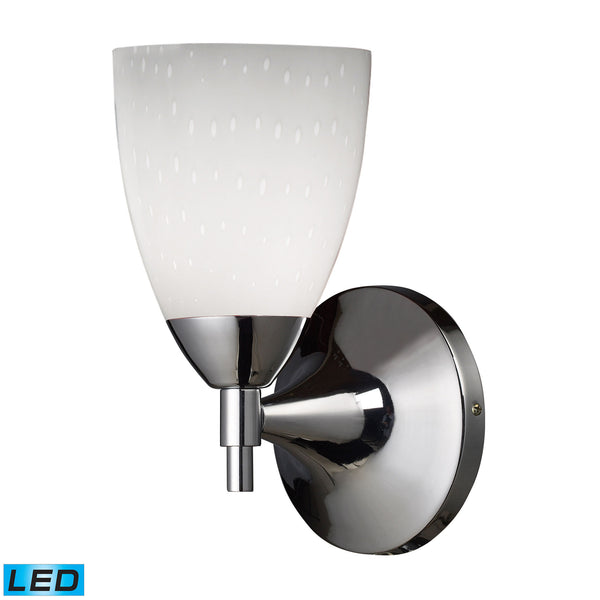 Celina 1 Light LED Sconce In Polished Chrome And Simple White