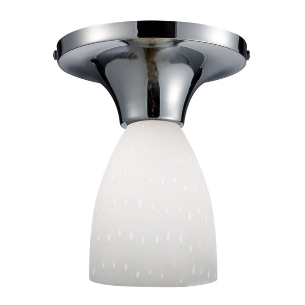Celina 1 Light Semi Flush In Polished Chrome And Simple White