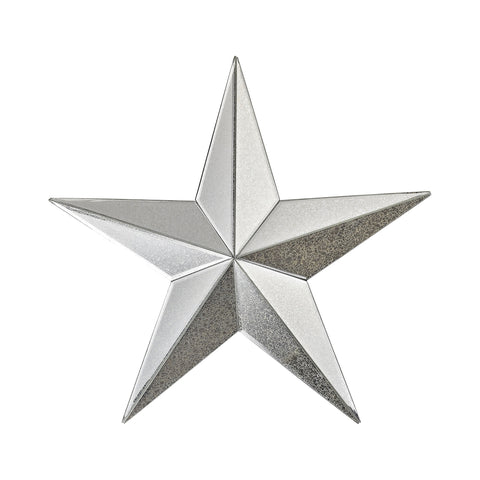 Wishmaker Antiqued 18-Inch Mirrored Star Wall Decor