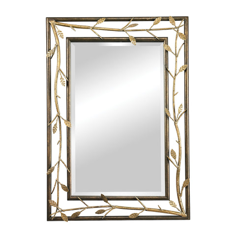 Rhyl Metal Branch Frame Mirror