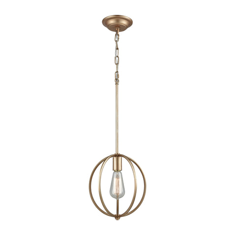 Stanton 1 Light Pendant In Matte Gold