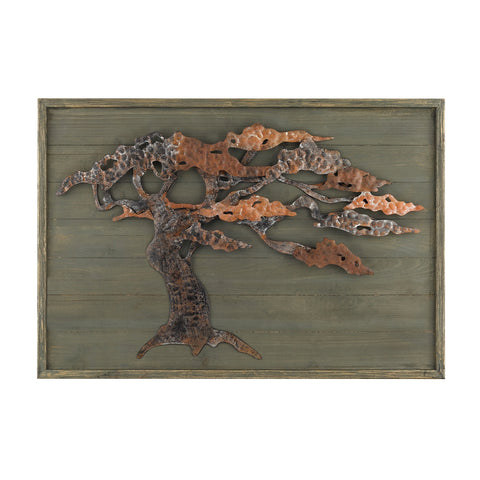 Wood And Metal Tree Wall Art
