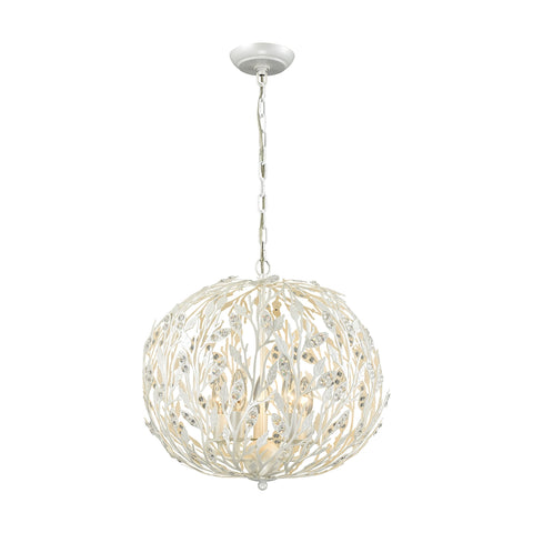 Trella 5 Light Chandelier In Pearl White