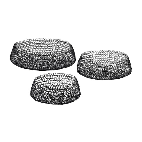 Welded Ring Bowls - Set of 3