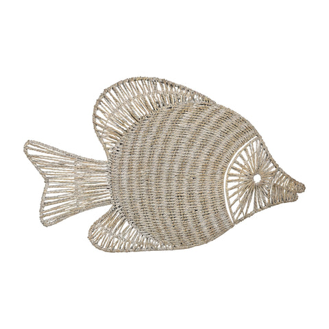 Wicker Fish Wall Decor
