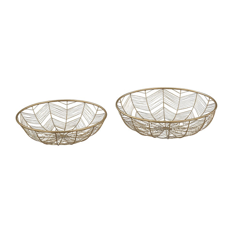 Tuckernuck 2-Piece Metal Bowl Set In Gold
