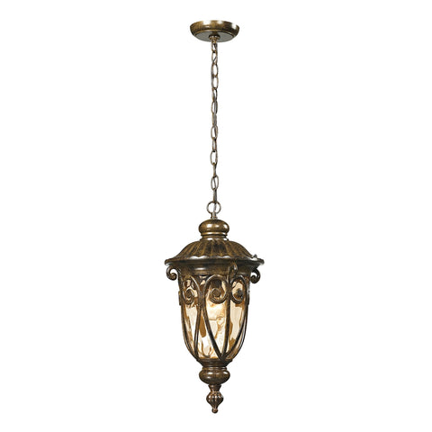 Logansport 1 Light Outdoor Pendant In Hazelnut Bronze