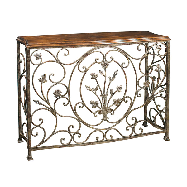Floral Scroll Console