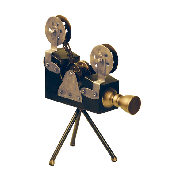 Olivier Camera Display In Black And Antiqued Brass