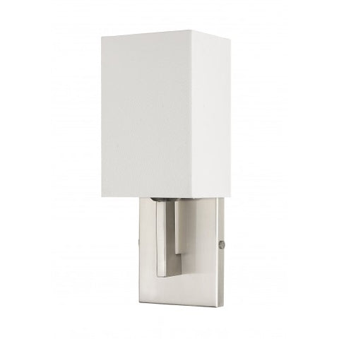 Livex Lighting Hollborn 1 Light Brushed Nickel Wall Sconce