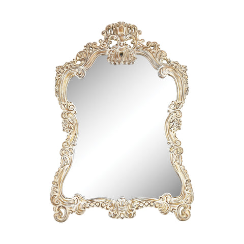Regence Composite Frame Wall Mirror In Belgian Cream