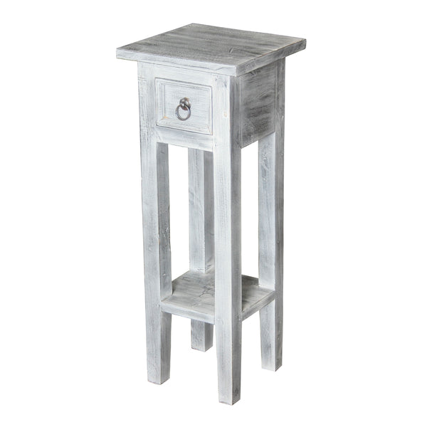 Sutter End Table With Natural White Wash Finish