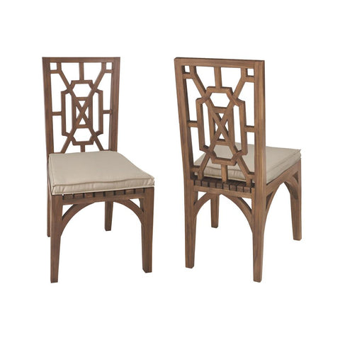 Teak Garden Dining Chairs In Euro Teak Oil