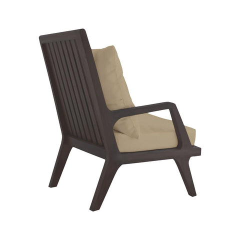 Teak Patio Lounge Chair In Euro Teak Oil