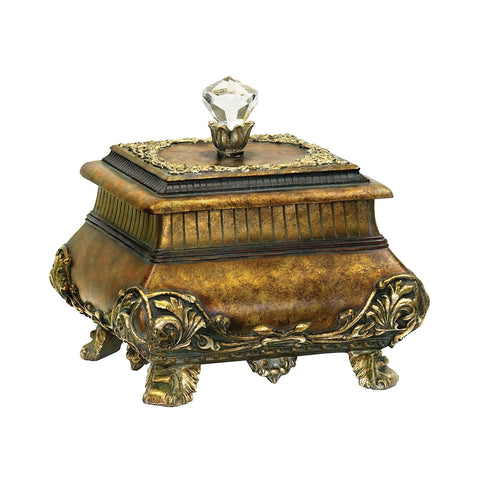 Wilton Keepsake Box In Antique Gold