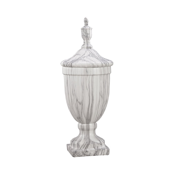 Neuchatel Faux Marble Ceramic Urn - Small
