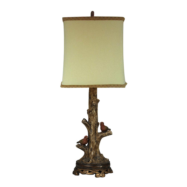 Birds On A Branch 1 Light Accent Lamp In Gold Leaf