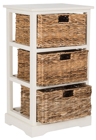 Safavieh Halle 3 Wicker Basket Storage Side Table AMH5738B