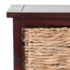 Safavieh Halle 3 Wicker Basket Storage Side Table AMH5738C