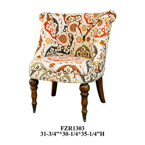 Crestview Hutchison Pattern Fabric Chair CVFZR1303