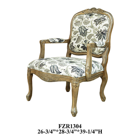 Crestview Huntley Pattern Fabric Accent Chair CVFZR1304