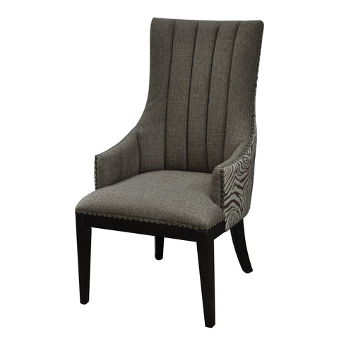 Crestview Safari Two Toned Channel Back Chair CVFZR1473