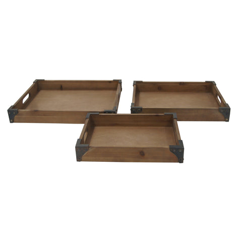 Crestview Rustic Trays CVTRA370
