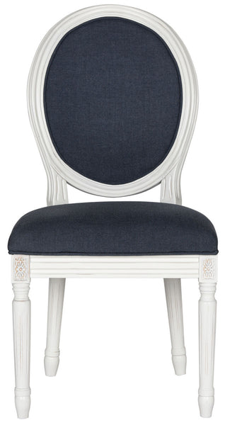 Safavieh Holloway 19''H French Brasserie Linen Oval Side Chair FOX6228C-SET2