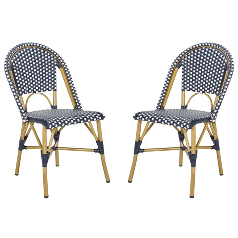 Safavieh Salcha Indoor-Outdoor French Bistro Stacking Side Chair FOX5210F-SET2