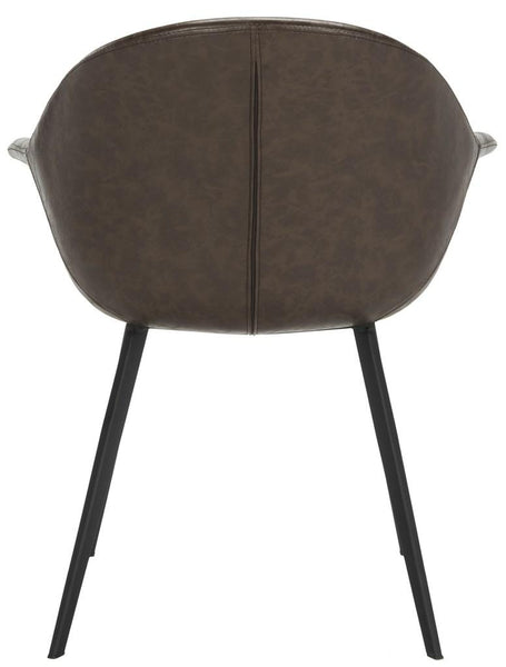 Safavieh Dublin Midcentury Modern Leather Dining Tub Chair ACH7007A-SET2