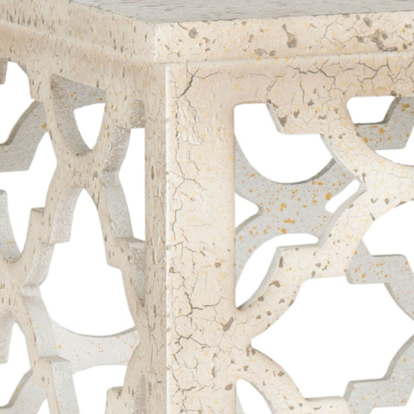 Safavieh Lonny End Table/Distressed White AMH1507A