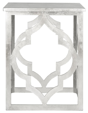 Safavieh Milo Trellis Silver Leaf End Table AMH1508A