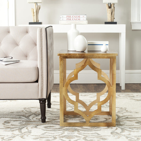 Safavieh Milo Trellis Gold Leaf End Table AMH1508B