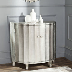 Safavieh Rutherford Demilune Cabinet/Silver AMH1516A