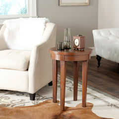 Safavieh Kipp Round Top Wood End Table AMH1521A