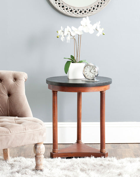 Safavieh Huxley Round Top Wood End Table AMH1523A
