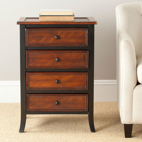Safavieh Dodger 4 Drawer Side Table AMH4034A