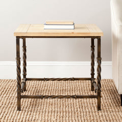Safavieh Tonya Wood Top Side Table AMH4122A