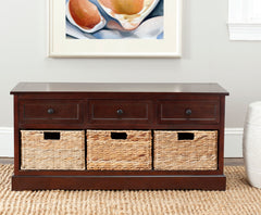 Safavieh Damien 3 Drawer Storage Bench AMH5701D