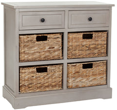 Safavieh Herman Storage Unit W/ Wicker Baskets AMH5702A