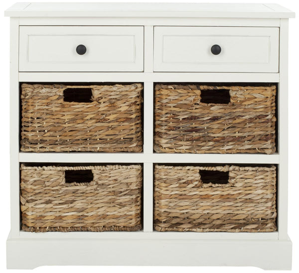 Safavieh Herman Storage Unit W/ Wicker Baskets AMH5702C