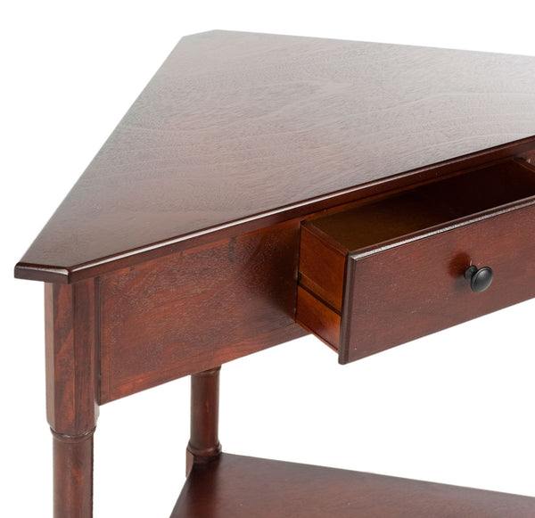 Safavieh Gomez Corner Table With Storage Drawer AMH5709D