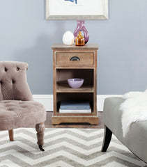 Safavieh Griffin Side Table W/ One Drawer AMH5719B