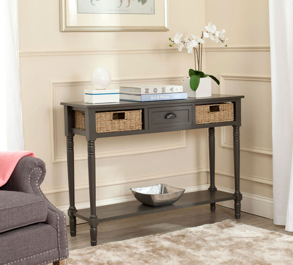 Safavieh Winifred Wicker Console Table With Storage AMH5730A