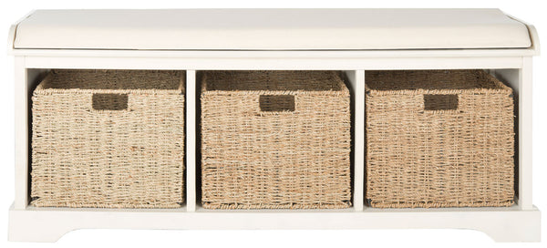 Safavieh Lonan  Wicker Storage Bench AMH5733C