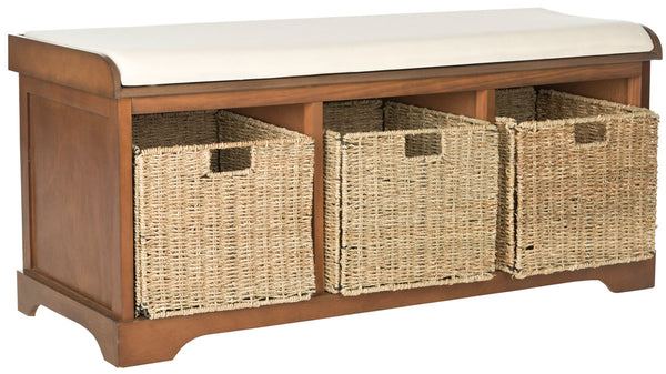 Safavieh Lonan  Wicker Storage Bench AMH5733D