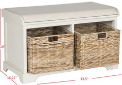 Safavieh Freddy Wicker Storage Bench AMH5736D