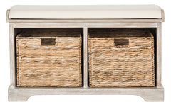 Safavieh Freddy Wicker Storage Bench AMH5736G