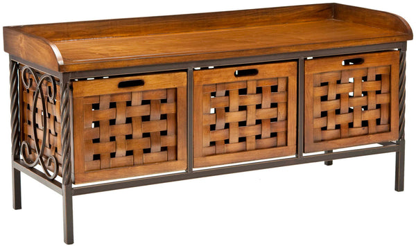 Safavieh Isaac 3 Drawer Wooden Storage Bench AMH6530A